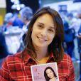 Julia Vignali - Salon du livre à la porte de Versailles à Paris le 22 mars 2015.