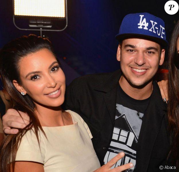 Kim, Rob et Khloé Kardashian à Miami. Septembre 2012.