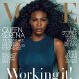 Serena Williams en couverture du numéro d'avril 2015 du magazine Vogue. Photo par Annie Leibovitz.