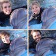 Britney Spears fait escale à l'hôtel Mirage à Las Vegas pour nager avec les dauphins, en compagnie de ses fils Sean Preston et Jayden James, et de son amoureux Charlie Ebersol, le samedi 28 février 2015.