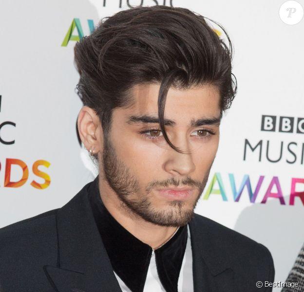 """Zayn Malik (du groupe One Direction) - Soirée des """"BBC Music Awards"""" à Londres, le 11 décembre 2014."""