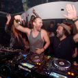 David Guetta et Mr. Brainwash au Liv. Miami, le 5 décembre 2014.
