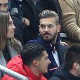M. Pokora et sa compagne Scarlett Baya - People au match amical France - Brésil au Stade de France à Saint-Denis le 26 mars 2015.