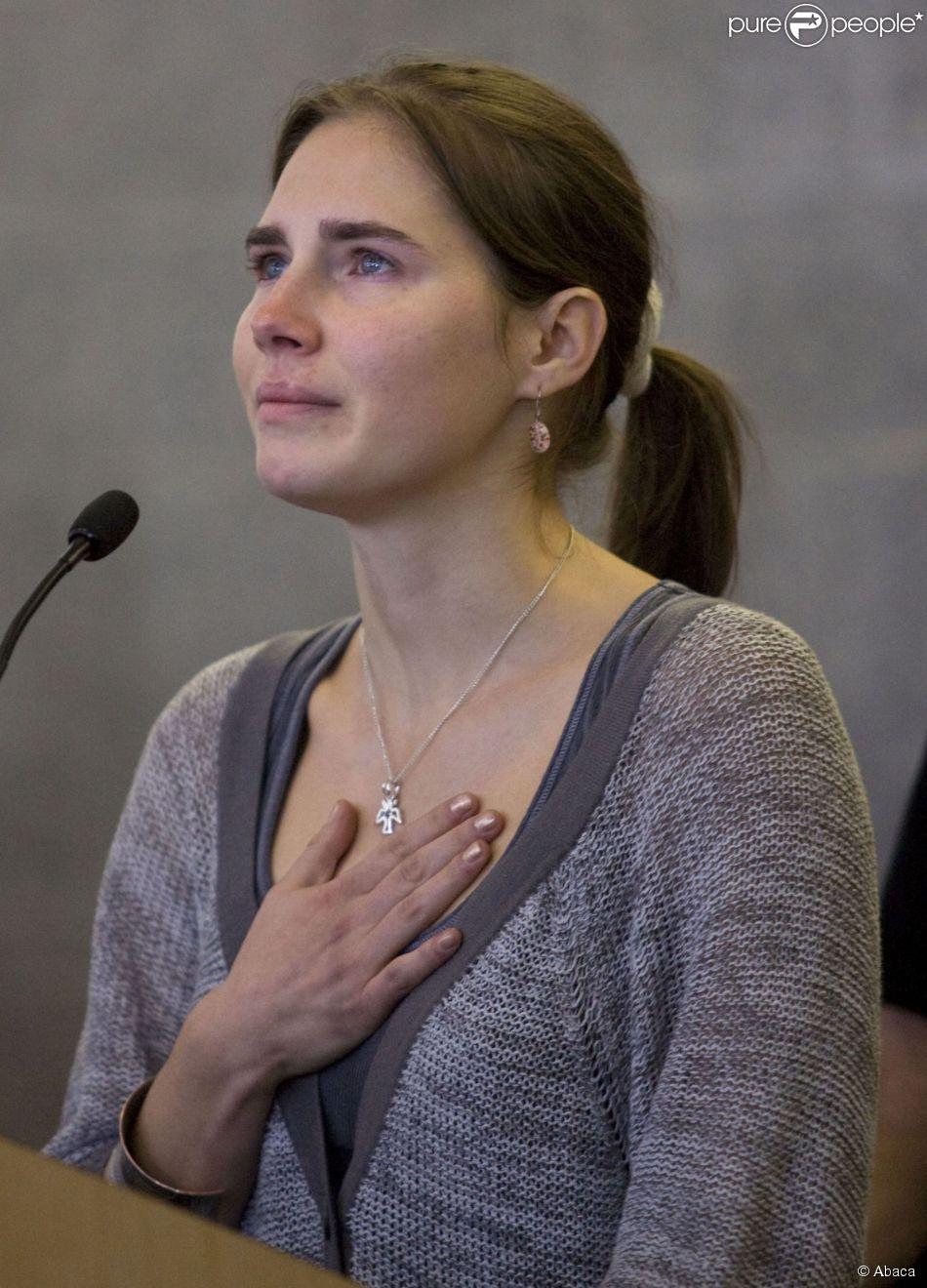 Amanda Knox acquittée de meurtre : Explosion de joie de sa ...