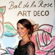Laetitia Guarino, Miss Suisse 2014 lors du Bal de la Rose qui se tenait au Sporting de Monte-Carlo à Monaco le 28 mars 2015