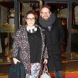 Exclusif - Marilou Berry et son compagnon Arnaud Schneider - Marilou Berry et son compagnon Arnaud Schneider dînent au Fouquet's à Paris le 4 mars 2015.
