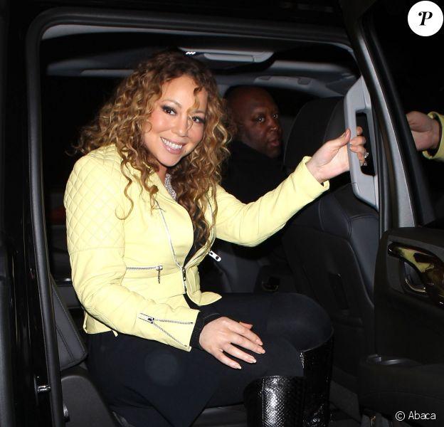 Mariah Carey radieuse arrive au Craig's Restaurant où elle a dîné avec Brett Ratner de Los Angeles, le 22 mars 2015