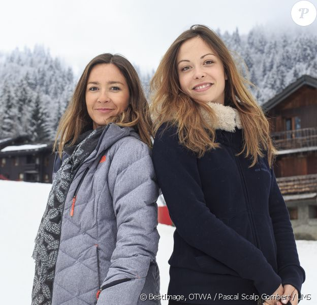 Exclusif - Dounia Coesens et Emmanuelle Boidron, étaient toutes les deux marraines d'une opération qui a eu lieu ce week-end de Pâques dans la station de ski de Valmorel. Le 5 avril 2014.