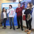 Exclusif - Dounia Coesens et Emmanuelle Boidron, étaient les marraines d'une opération qui s'est déroulée ce week-end de Pâques dans la station de ski de Valmorel. Le 5 avril 2014.