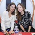 Exclusif - Les belles Dounia Coesens et Emmanuelle Boidron, étaient toutes les deux marraines d'une opération qui a eu lieu ce week-end de Pâques dans la station de ski de Valmorel. Le 5 avril 2014.