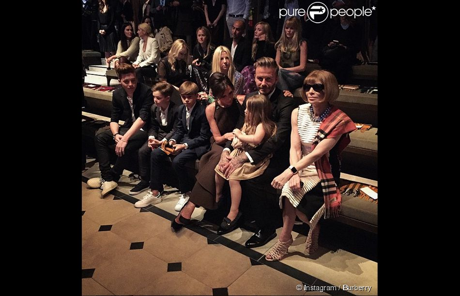 Les Beckham et Anna Wintour assistent à la soirée London in Los Angeles de Burberry Prorsum au Griffith Observatory. Los Angeles, le 16 avril 2015.
