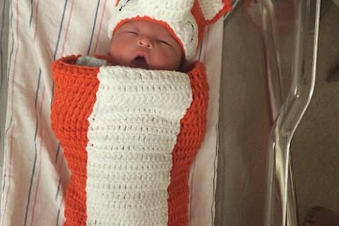 Sarah Stage, maman trop mince ? Son fils James, un bébé en pleine santé !