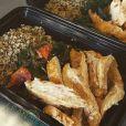 Sur Instagram, le mannequin Sarah Stage a ajouté une photo de son repas équilibré le 13 février 2015