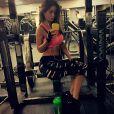 Sur Instagram, le mannequin Sarah Stage enceinte a ajouté une photo à la salle de gym le 24 janvier 2015