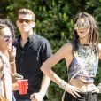 Kendall Jenner assiste à la pool party de l'application de chat Regroupd. Bermuda Dunes, le 18 avril 2015.