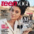 Kylie Jenner en couverture du numéro de mai 2015 du magazine Teen Vogue. Photo par Giampaolo Sgura.