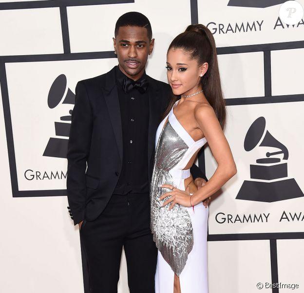 Big Sean et sa petite-amie Ariana Grande - 57ème soirée annuelle des Grammy Awards au Staples Center à Los Angeles, le 8 février 2015.