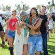Kylie et Kendall Jenner au festival de Coachella. Indio, le 10 avril 2015.