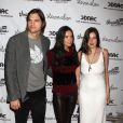 Ashton Kutcher, Demi Moore et sa fille Scout Willis à la soirée Real Men Don't Buy Grls, le 14 avril 2011