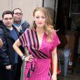 Blake Lively sort d'une émission de télévision à New York, le 21 avril 2015.