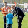 Le roi Willem-Alexander et la reine Maxima des Pays-Bas donnaient le coup d'envoi des Jeux du Roi à Leyde le 24 avril 2015