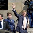 Le roi Willem-Alexander des Pays-Bas lors d'un événement le 23 avril 2015 à Amsterdam en vue de son 48e anniversaire, le 27.