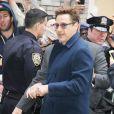 Robert Downey Jr. arrive au Late Show with David Letterman à New York le 24 avril 2015.