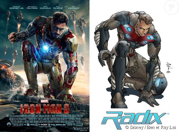 Iron Man version Disney vs la création de Ben et Ray Lai pour le comics Radix. Les deux hommes accusent Marvel d'avoir volé le costume de ce personnage.