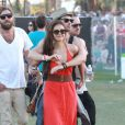 Ian Somerhalder et son ex Nina Dobrev à Coachella, le 15 avril 2012