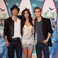 Ian Somerhlader, Nina Dobrev et Paul Wesley, aux Teen Choice Awards le 8 aout 2010