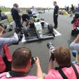 """Mick Schumacher a terminé à la neuvième place de sa première course en Formule 4 après être parti 19e sur la grille, ce qui lui a valu le trophée de """"Best Rookie"""", meilleur débutant, sur l'Etropolis-Motorsport Arena d'Oschersleben, le 25 avril 2015"""