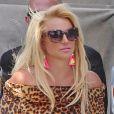 Britney Spears sur le tournage de leur nouveau clip à Studio City, le 9 avril 2015.