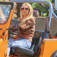 Britney Spears et Iggy Azalea sur le tournage de leur nouveau clip à Studio City, le 9 avril 2015.