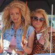Britney Spears et Iggy Azalea tournent eur nouveau clip à Studio City, le 9 avril 2015.