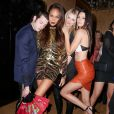 Peter Brant Jr., Joan Smalls, Lily Donaldson et Kendall Jenner assistent à l'after-party du Met Gala 2015 de Yahoo Style à l'hôtel The Standard. New York, le 4 mai 2015.