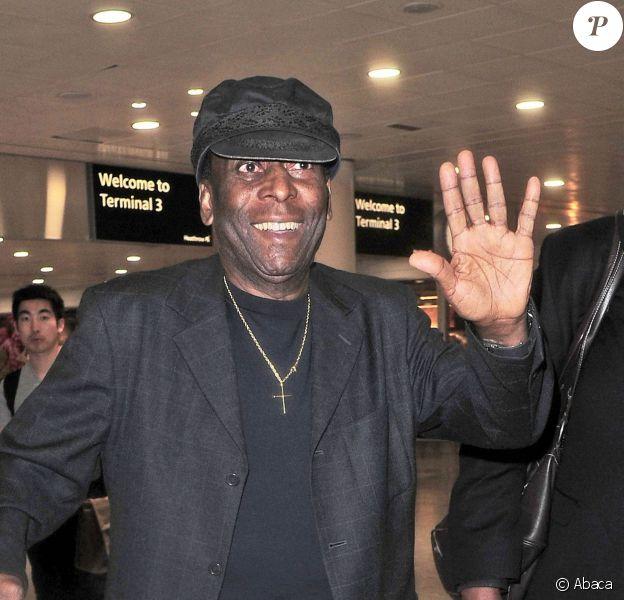 Pelé à l'aéroport d'Heathrow à Londres, le 21 avril 2015