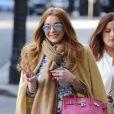 Lindsay Lohan dans Mayfair, le 23 avril 2015 à Londres