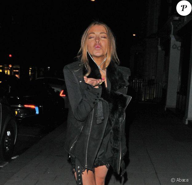 Lindsay Lohan à Londres, le 8 mai 2015
