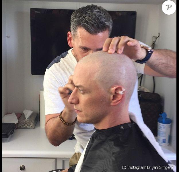 James McAvoy se rase le crâne pour X-men : Apocalypse.