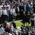 La reine Elizabeth II lors de la première garden party de l'année à Buckingham, le 12 mai 2015
