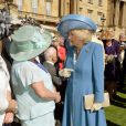 Camilla Parker Bowles lors de la première garden party de l'année à Buckingham, le 12 mai 2015