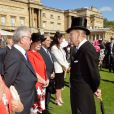 Le prince Philip, duc d'Edimbourg lors de la première garden party de l'année à Buckingham, le 12 mai 2015