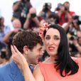 Xavier Dolan et Rossy de Palma - Photocall du jury du 68e Festival International du Film de Cannes, le 13 mai 2015.