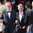 Niki Lauda et Eddie Jordan - Mariage de Geri Halliwell et Christian Horner en l'église de Woburn le 15 mai 2015  Gerri Halliwell and Christian Horner leave Woburn Church after getting Married 15 May 201515/05/2015 - Woburn