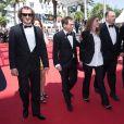 """Clara Royer, Urs Rechn, Matyas Erdely, Geza Rohrig - Montée des marches du film """"Le fils de Saul"""" lors du 68e Festival International du Film de Cannes, le 15 mai 2015"""
