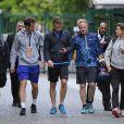 Andy Murray et Amélie Mauresmo dans les allées de Roland-Garros à Paris le 19 mai 2015