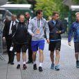 Andy Murray et Amélie Mauresmo à l'entraînement à Roland-Garros à Paris le 19 mai 2015