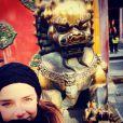Pauline Ducruet, fille de la princesse Stéphanie de Monaco, lors d'un voyage en Chine début 2015. Photo Instagram.