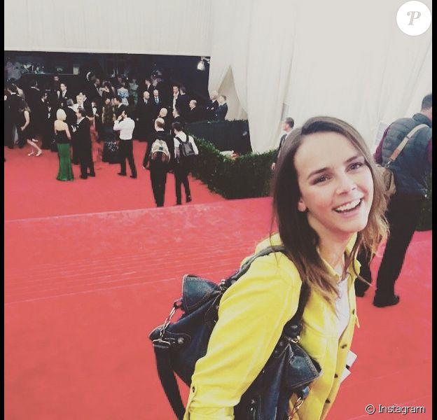 Pauline Ducruet, fille de la princesse Stéphanie de Monaco, sur le tapis rouge du Met Gala à New York le 4 mai 2015, jour de ses 21 ans. Photo Instagram du 5 mai 2015.