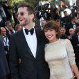"""""""Emma de Caunes et son mari Jamie Hewlett - Montée des marches du film """"Youth"""" lors du 68e Festival de Cannes, le 20 mai 2015."""""""